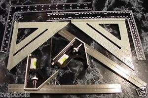 """6pc. SQUARES roof combination framing level Combo Square frame rafter tool 12"""""""