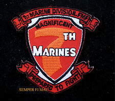 7TH MARINES REGIMENT HAT PATCH US MARINE 1ST MAR DIV PIN UP MAGNIFICENT SEVENTH