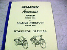 Raleigh Moped/RM4+RM6/Runabout/New Workshop Manual /With Exploded Diagrams