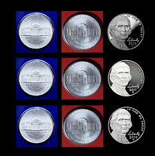 2010  2011  2012 P+D+S Jefferson Nickel Sets ~ Gem Proof Coins & PD Mint Wrap