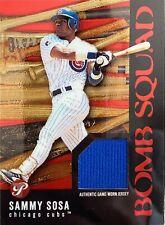 2003 Pristine Sammy Sosa Bomb Squad #PBS-SS2 Game-Used Jersy MLB Cubs NRMNT-MNT
