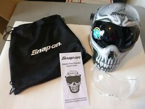 New Snap-On White Skull Extreme Face Protector (Black/ Gray), EFPBONEHEDB