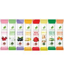 Premium Powder Slimming Organic Fruit Flower Herbal Tea 16 cups 8 flavor Teas