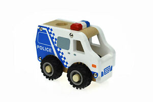 KD WOODEN POLICE CAR