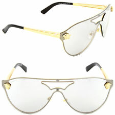 Versace VE 2161 1002/6G Pilot Sunglasses Gold/Grey Mirror Silver Lens