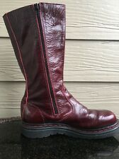 Men's Doc Dr. Marten Boot Red Size 5 Rare Ox Blood Rock Star Leather Zip EUR 35