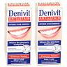 2 x Denivit  Anti Stain WHITE Whitening Toothpaste  Good For Smokers Etc