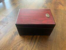 1915 Thompson & Co. Cherry Cigar Box & Humidor