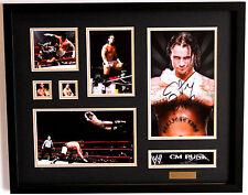 New CM Punk Signed Limited Edition Memorabilia Framed
