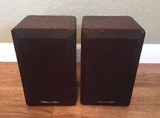 Realistic Minimus-7W 8 OHMS 40W Speakers Pair Walnut Wood Finish VG Condition