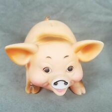 Vintage Squeaky Toy Pig Made In Hong Kong