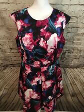 NWT Vince Camuto Floral Scuba Knit Fit & Flare Dress (Plus Size) (size 16)