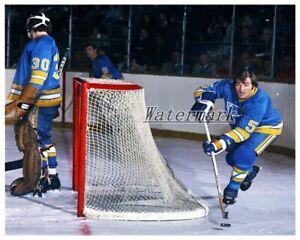NHL St. Louis Blues Bob Plager Game Action Color 8 X 10 Photo Picture