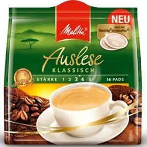 1 x 16 Coffee Pods MELITTA AUSLESE Classic  New from Germany