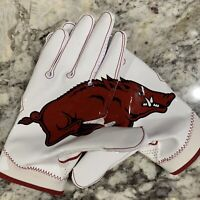 Nike Superbad 4 SB4 Football Gloves NCAA Edition Arkansas Razorbacks Size XL PE