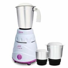 Inalsa Jazz Mixer Grinder, 550W, 3 Jars (White/ Purple) Free Universal Plug