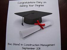 Luxury Handmade Personalised Congratulations on Your Graduation/Graduating card