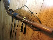 Hand Carved Native American Plains Style Love Flute w/Wrap (Sharp F)
