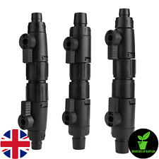 Aquarium Double Tap Valve With Quick Release For Hoses 12/16mm | UK Stock
