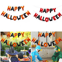 16 inch Happy Halloween Foil Letter Balloons Party Decoration Hanging Balloons