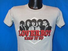vintage 80s LOVERBOY KEEP IT UP 1983 ALBUM ROCK SOFT THIN GRAY t-shirt XS