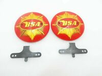 "BSA Scrambler Catalina 4"" Petrol Tank Red Badges With Clips"