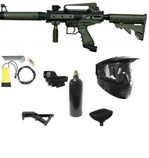 OLIVE Tippmann Cronus Tactical EXTREME Paintball Gun Pack ADP Red Dot Angle Grip