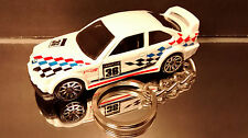 White 1994 BMW M3 GTR Race Coupe E36 Diecast 3D Custom Key Chain Ring Fob