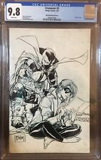 Crossover #3 CGC 9.8 1:100 Variant  Todd McFarlane B&W Sketch Cover!