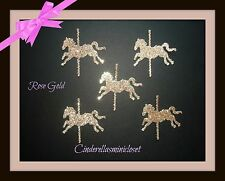 30 ROSE GOLD GLITTER CAROUSEL HORSE DIE CUTS PUNCHES CONFETTI BIRTHDAY PARTY