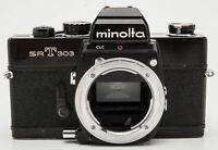 Minolta SRT 303 Body Gehäuse analoge Spiegelreflexkamera SLR Kamera schwarz