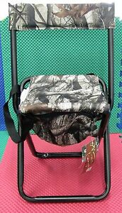 Allen Next Camo Folding seat w/Backrest And Zippered Storage Pouch 5810