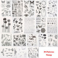 Узнай силиконовые прозрачные резиновые штампы для скрапбукинга альбома изготовление открыток декор сделай сам ремесло