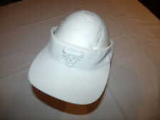 Chicago Bulls All White Out Visor Hat NBA Mitchell & Ness Adult Snapback NEW $25