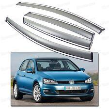 Window Visor Vent Shade Rain/Sun Guard for 2013 2014 2015 Volkswagen Golf MK7