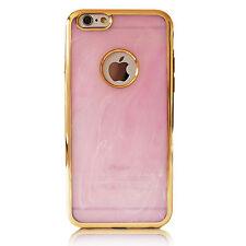 Case für iPhone Samsung Schutz Handy Hülle Bumper Tasche Cover Marmor Gold Rosa