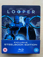 Looper 2012 Science Fiction Sci-Fi Time Travel Thriller UK Blu-ray Steelbook