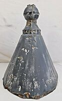 Antique Victorian Style Tin Turret Roof Finial - C. 1880 Architectural Salvage