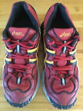 Vintage (late 90s) Asics Gel Trainers Running Shoes TN823 Red Mens Size 42.5