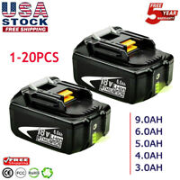 18V For Makita BL1860B BL1830 LXT Li-ion 6.0Ah Extend Compact Cordless Battery