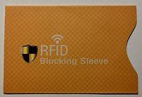 1x Schutzhülle RFID NFC für EC Karte/Kreditkarte Gelb Neu !!!