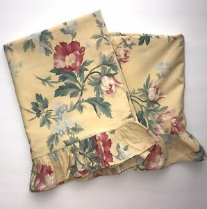 2 Yellow Floral Vintage King RALPH LAUREN Parsonage French Country Pillow Case