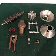11pc -  Vintage industrial steampunk  VALVES / CRANKS - lamp base project - ?