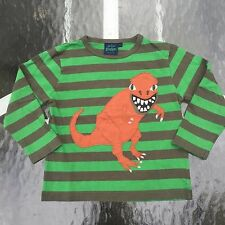 MINI BODEN Boy's AWESOME DINO Long sleeve shirt. 5-6 years GREAT!!