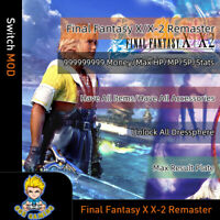 Final Fantasy X/X-2 Remaster (Switch Mod)-Max Moeny/HP/MP/SP/Item/Accessories