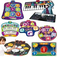 Kids Toy Electronic Music Play Mat Dance Sound Mix Drum Kit Keyboard Piano Gifts