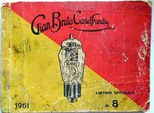 GBC GIAN BRUTO CASTELFRANCHI LISTINO UFFICIALE 1961 VALVOLE RADIO CATALOGO