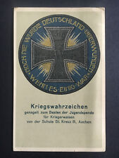 1918 Aachen Germany postcard Cover to Bremen Iron Cross Medal