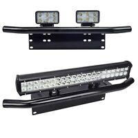 Front Bumper License Plate Mount Bracket Holder for Offroad Light/LED Light Bar