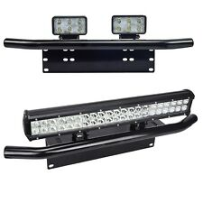 Front Bumper License Plate Mount Bracket Holder for Offroad Light/LED Light Bar